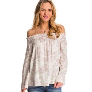 Tops - O'Neill Floral Off Shoulder Long Sleeve Top S